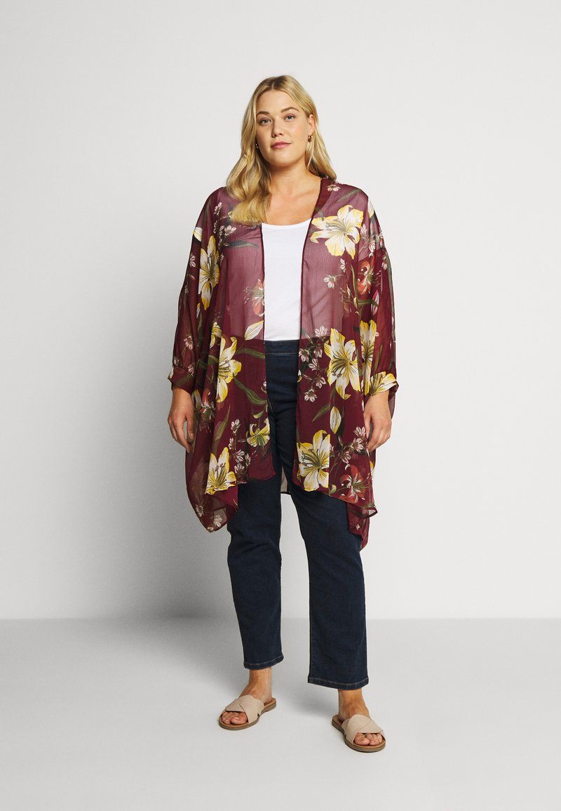 Simply Be - CUFFED BATWING KIMONO - Lehká bunda - multicoloured