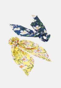 Pieces - PCANLOIS BOW SCRUNCHIE 2 PACK - Hair Styling Accessory - buttercup/blue - 0