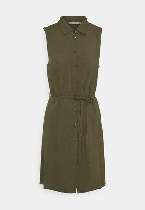 Košilové šaty - olive