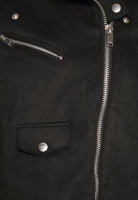 ONLY - ONLSHERRY CROP  BONDED BIKER - Imiteret læderjakke - black - 5