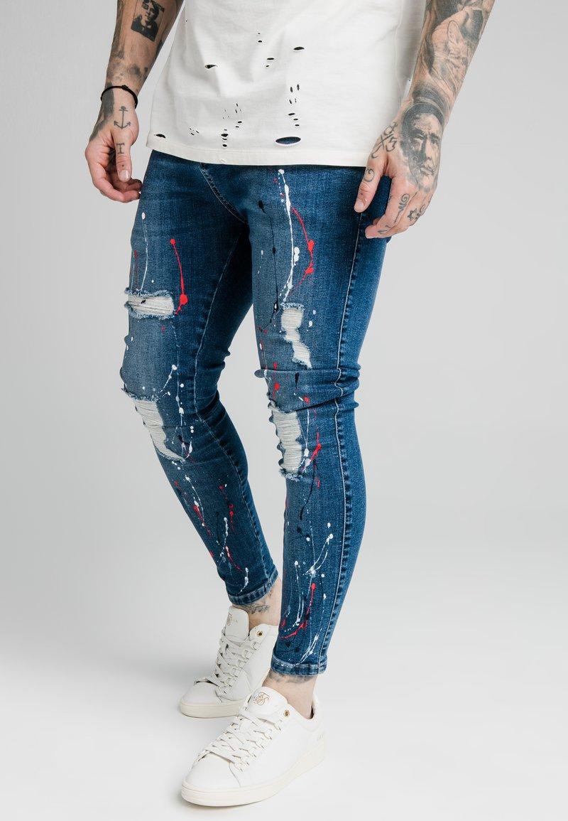 SIKSILK - DISTRESSED RIOT - Jeans Skinny Fit - midstone