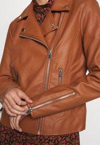 Vila - VICARA JACKET - Faux leather jacket - tortoise shell - 6