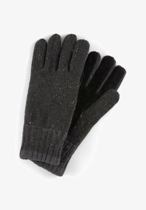 Gloves - black multi nep yarn