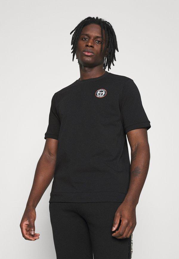 sergio tacchini FIRE - T-shirt basic - black/czarny Odzież Męska YKDL