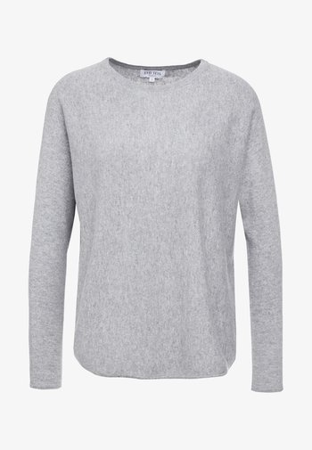 CURVED SWEATER - Jumper - light grey