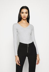 Even&Odd - Long sleeved top - light grey - 0