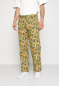 Jaded London - SUNFLOWER TAPESTRY WOVEN SKATE - Trousers - green/yellow - 0