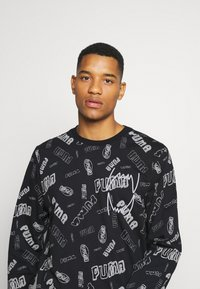 Puma - HOOPS TEE - Long sleeved top - black - 5
