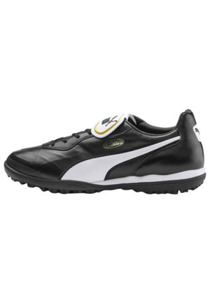 Astro turf trainers - black-white