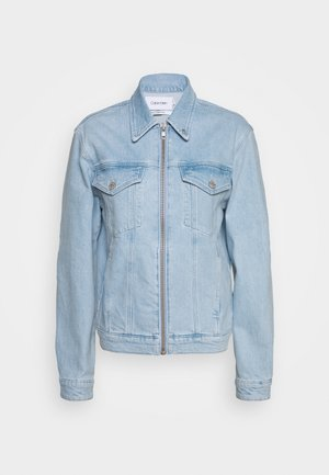 CLASSIC ZIP - Denim jacket - light-blue denim