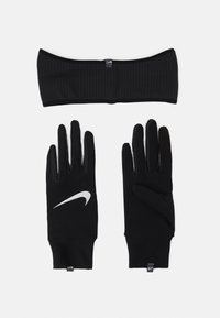 Nike Performance - WOMENS ESSENTIAL RUNNING HEADBAND AND GLOVE SET - Guantes - black/silver - 1