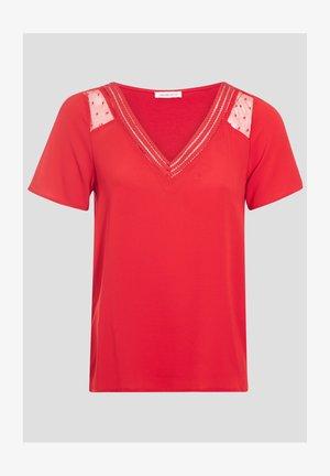 Camiseta estampada - rouge