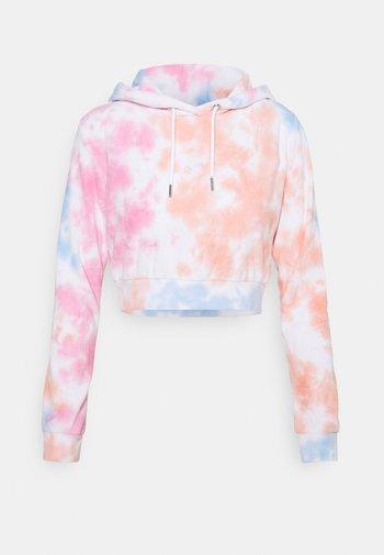 TERRY CROPPED HOODIE - Sweatshirt - pink