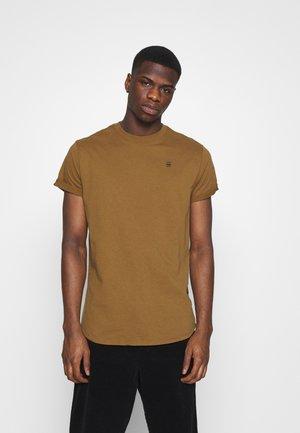 LASH ROUND SHORT SLEEVE - T-shirt basic - oxide ocre