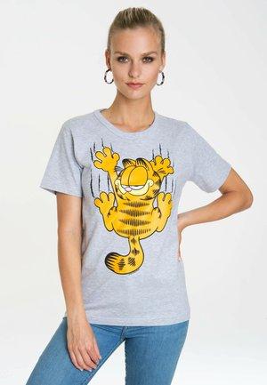 GARFIELD SCRATCHES - Print T-shirt - grau-meliert
