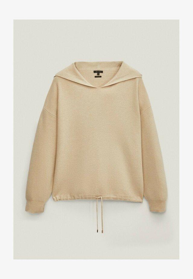 MIT KAPUZE - Bluza z kapturem - beige