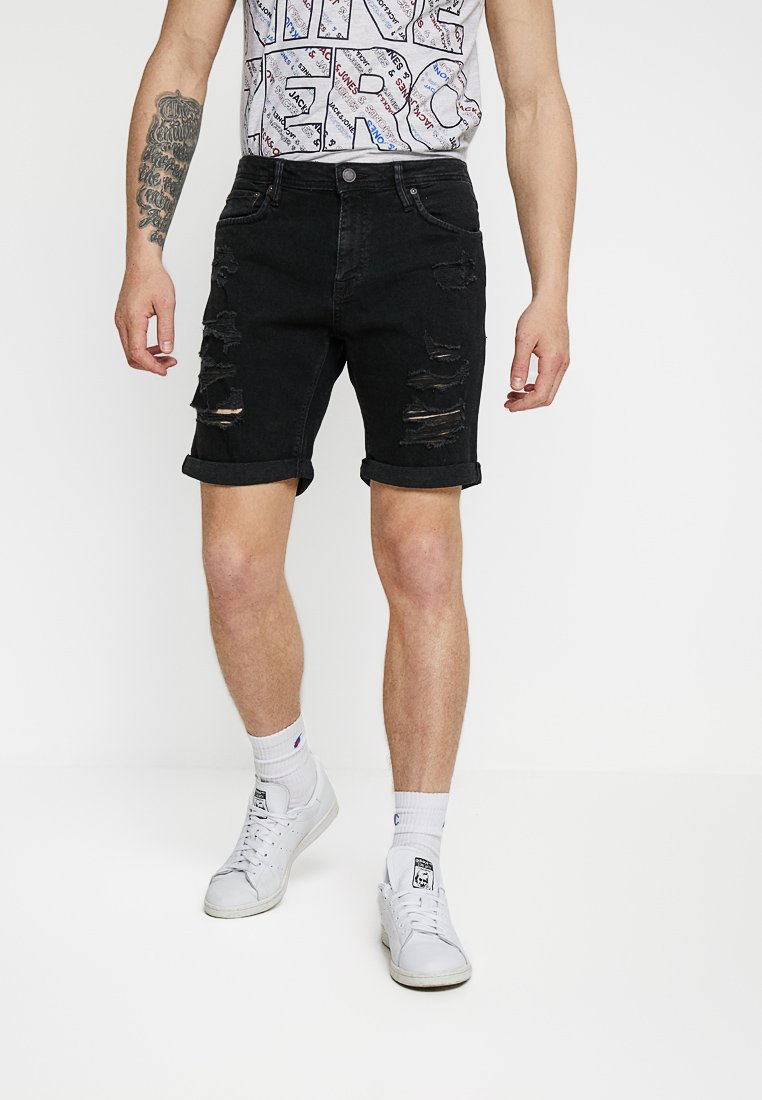 Jack & Jones - Denim shorts - black denim
