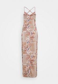 Missguided Tall - PAISLEY COWL NECK CAMI DRESS - Maxi dress - rust - 1