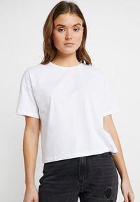 Even&Odd - 2 PACK - Basic T-shirt - white/black - 2