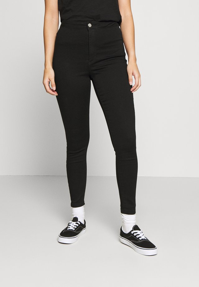 VICE HIGH WAISTED SKINNY - Jeans Skinny Fit - black