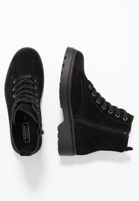 Topshop Wide Fit - WIDE FIT BUMBLE LACE UP BOOT - Lace-up ankle boots - black - 3