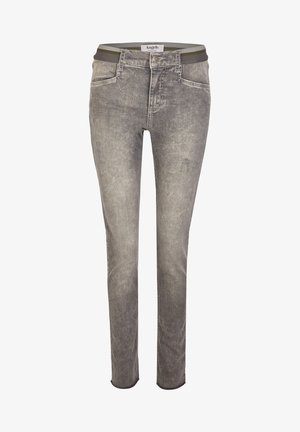 MIT ELASTISCHEM BUND - Jeans Skinny Fit - hellgrau