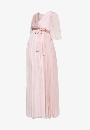 WRAP CONTRAST MAXI WITH FLUTTER SLEEVES - Denní šaty - orchid ice/frosted pink