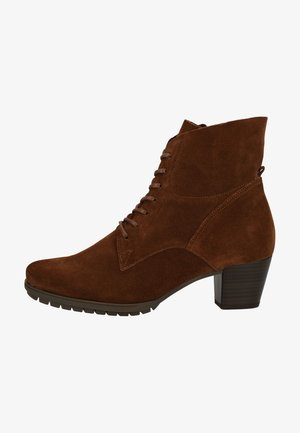 Lace-up ankle boots - whisky 41