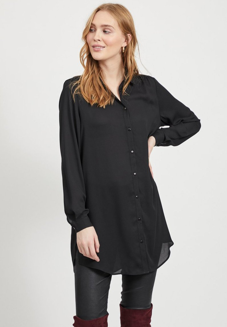 Vila - Button-down blouse - black