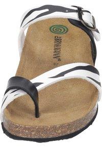 Dr. Brinkmann - T-bar sandals - weiß/zebra - 4