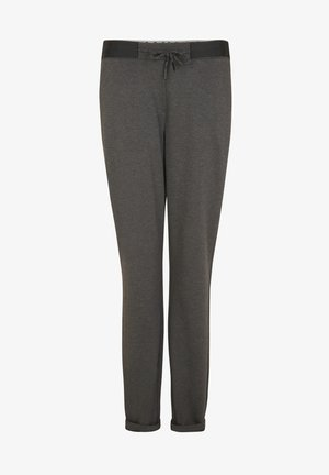 REGULAR FIT - Tracksuit bottoms - dark grey melange