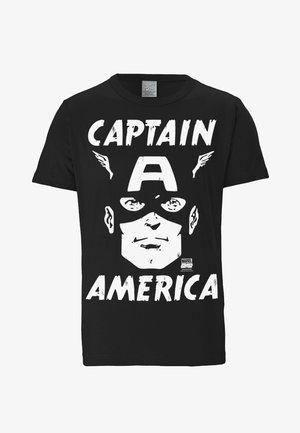 CAPTAIN AMERICA MARVEL - Print T-shirt - black