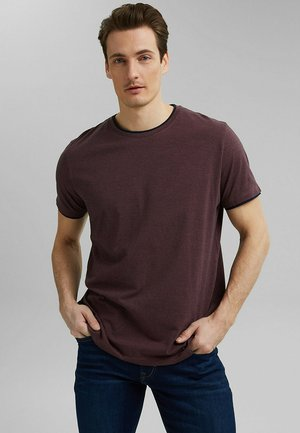 LAYER - T-shirt basic - berry red
