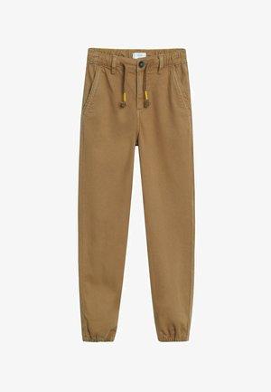 Pantalon classique - tabaczkowy brąz
