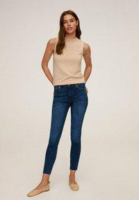 Mango - ISA - Jeans Skinny Fit - donkerblauw - 1