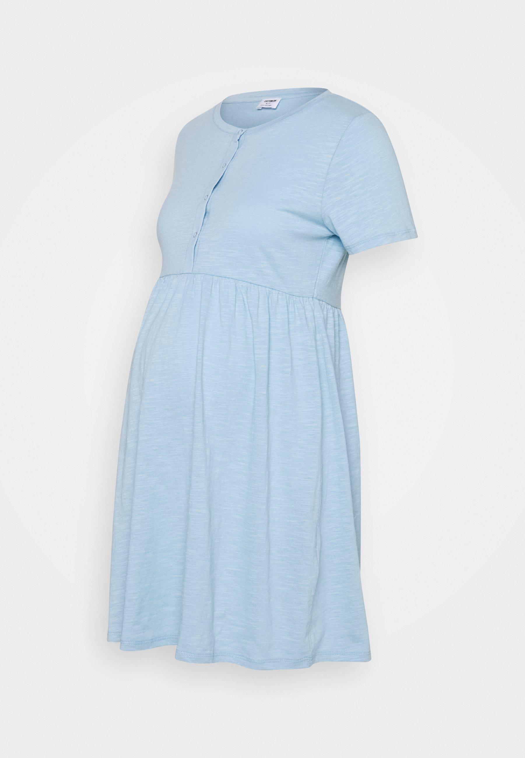 Women MATERNITY SHORT SLEEVE BABYDOLL MINI DRESS - Jersey dress