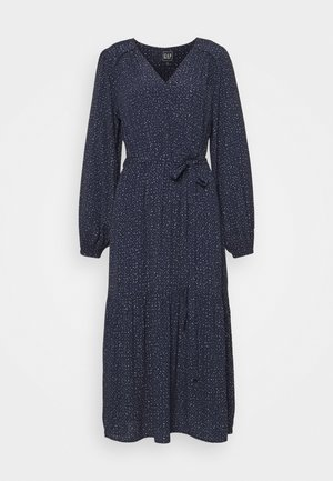 Day dress - scatter dot navy