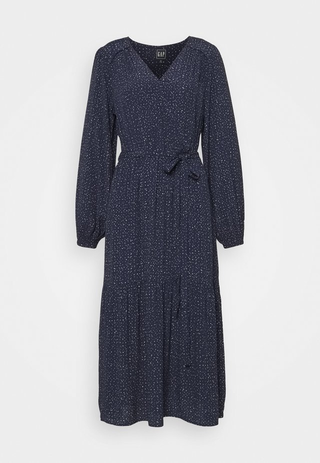 Robe d'été - scatter dot navy
