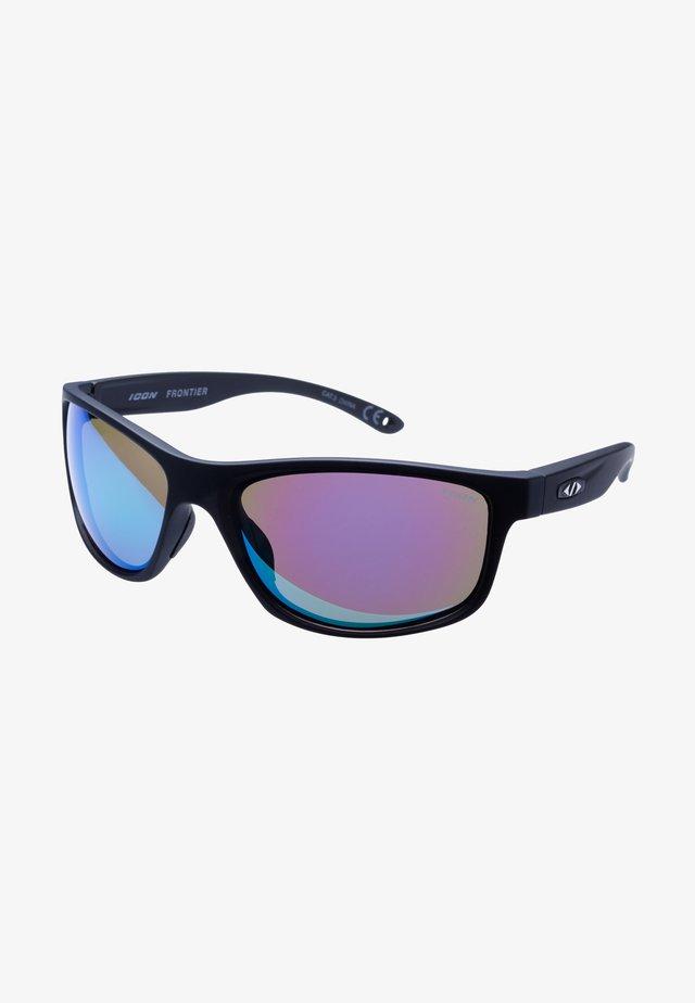 FRONTIER - Lunettes de sport - black/blue