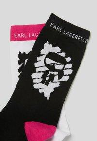 KARL LAGERFELD - Socken - white/blck - 1