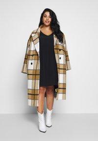 Cotton On Curve - BRITT BABYDOLL MINI DRESS - Sukienka letnia - black - 1