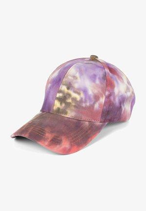 MIT BATIK MUSTER - Cap - violett-orange-rose