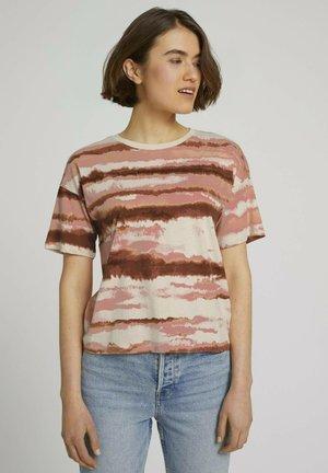 CROPPED DOT PRINT  - Print T-shirt - batik stripe