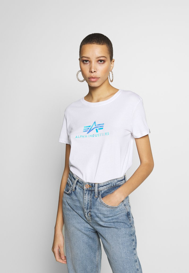 Alpha Industries - RAINBOW - T-shirt print - white