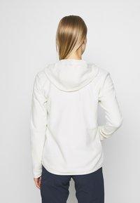 The North Face - WOMENS GLACIER FULL ZIP HOODIE - Fleece jacket - vintage white - 2
