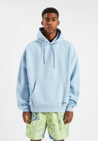 PULL&BEAR - Sweat à capuche - neon blue - 1
