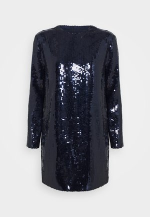 SEQUIN OVERLAY MINI DRESS - Cocktail dress / Party dress - midnight blue