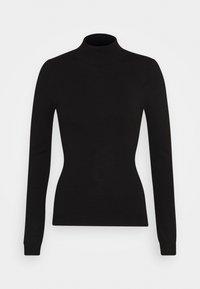BASIC- Perkin neck jumper - Jumper - black