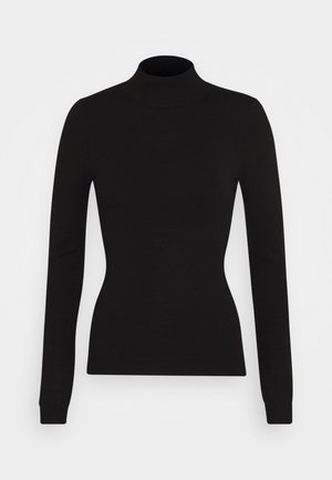 BASIC- Perkin neck jumper - Svetr - black