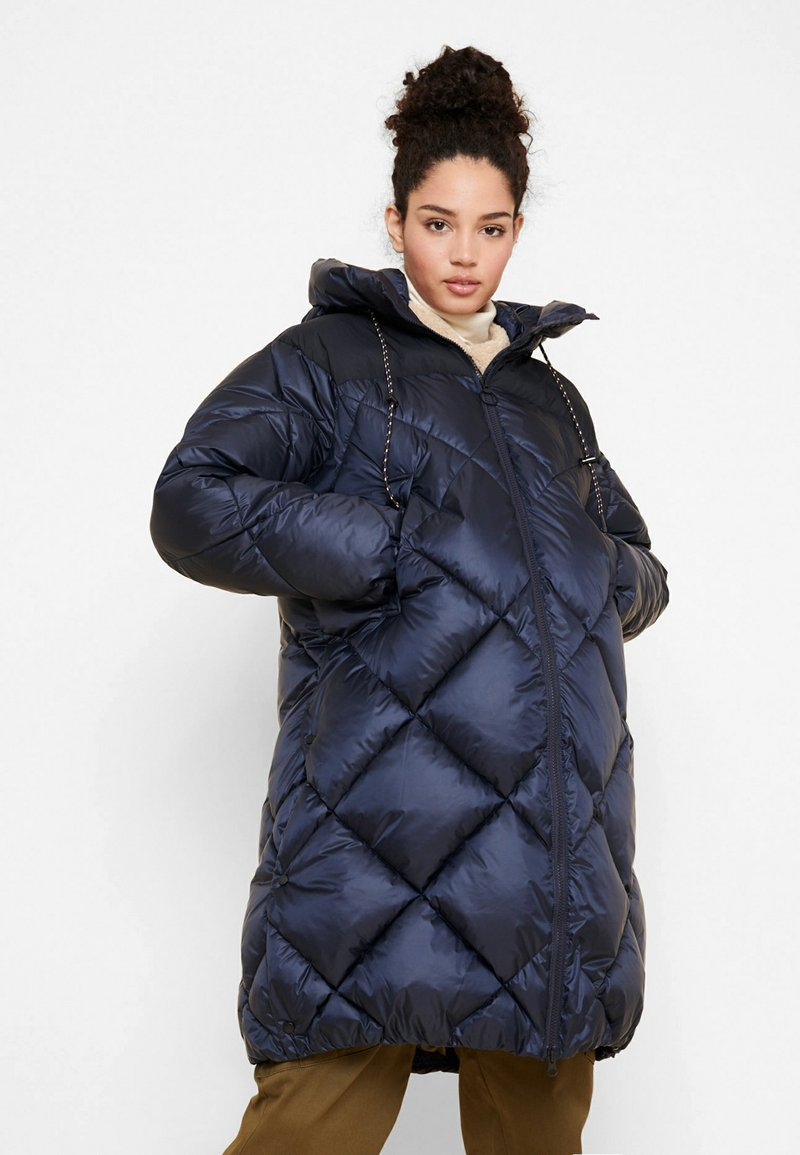 Aigle - FASSIE LONG - Winter coat - bleu marine
